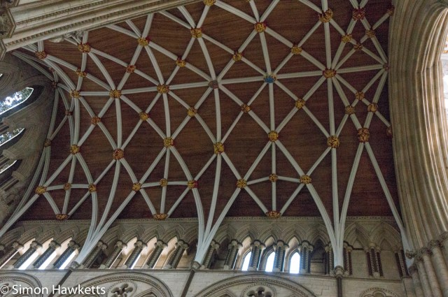 Sony Nex 6 pictures - A detailed picture of the roof in York Minster