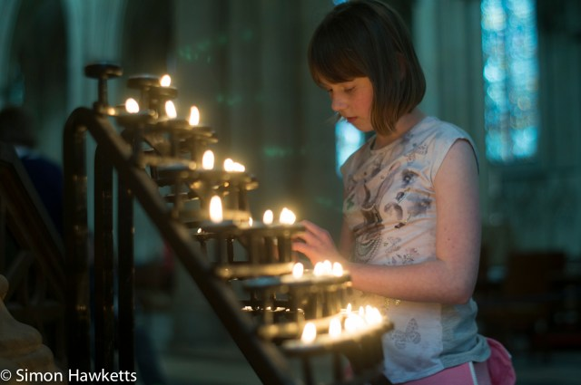 Looking at the candles in York Minster