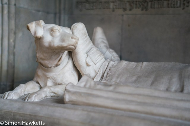 Sony Nex 6 pictures - A carved stone dog in York Minster