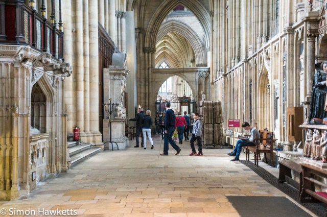 Sony Nex 6 pictures - People in the interior of York Minster
