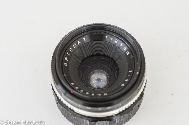 Optomax 35mm f/3.5 front view