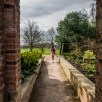 Beningborough Hall pictures - A girl taking a walk in the gardens