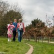 Beningborough Hall pictures - The family walking in the grounds