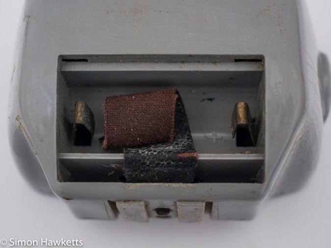 Braun Paxette Electromatic - flash battery compartment