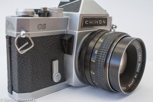 Chinon CS - Self timer and exposure metering switch