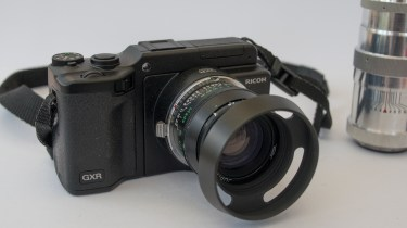 Ricoh GXR Leica Mount with Jupiter 8 fitted
