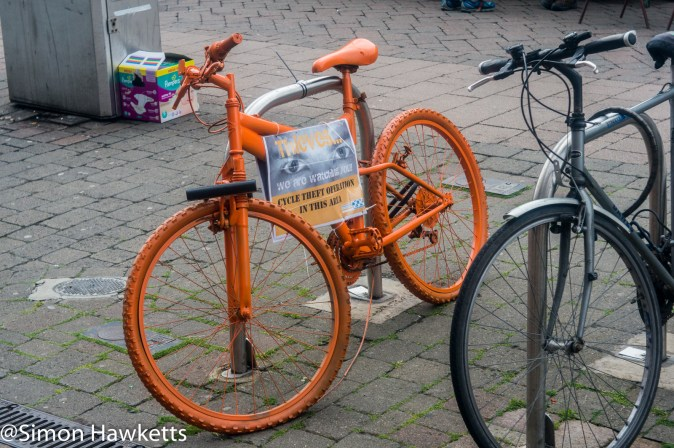 Steinheil Munchen Cassar S sample pictures - An orange bike