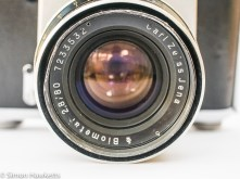 Pentacon six lens filter ring with some damage