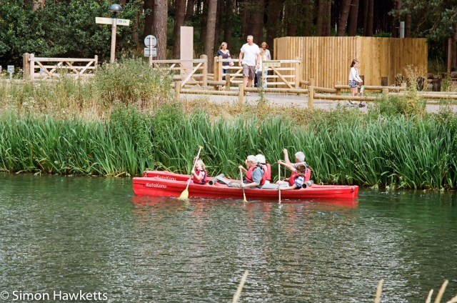 Miranda G slr with Kodak Gold 400 sample picture - The boating lake at Woburn Forest CenterParcs