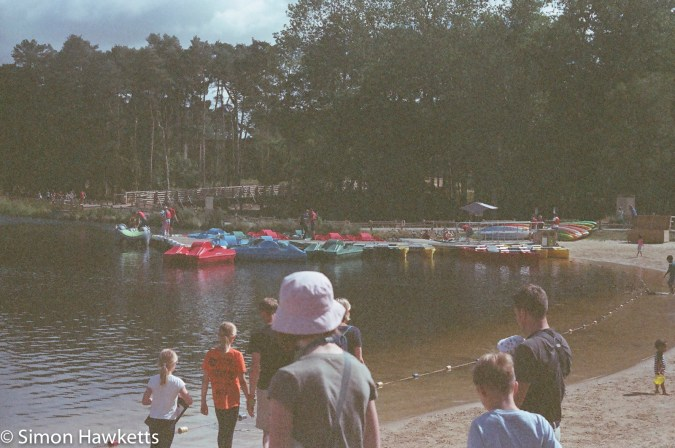 Miranda Sensorex EE slr with Kodak Gold 400 sample picture - The Boating lake at Woburn forest CenterParcs