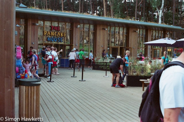 Miranda Sensorex EE slr with Kodak Gold 400 sample picture - The Pancake house at Woburn forest CenterParcs