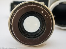 Pentacon six showing lens with no aperture blades