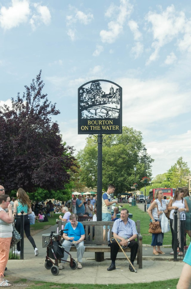 Bourton-on-the-water village sign