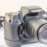 Pentax Z-1 35mm autofocus slr showing lens release, DOF preview, shutter and front control dial