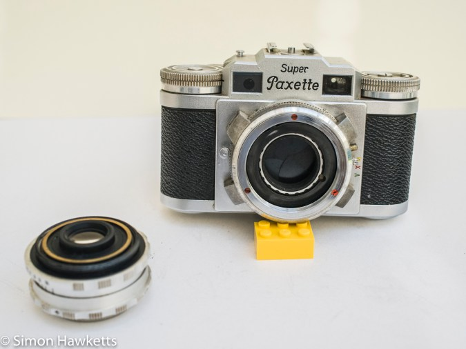 Super Paxette II - Lens removed