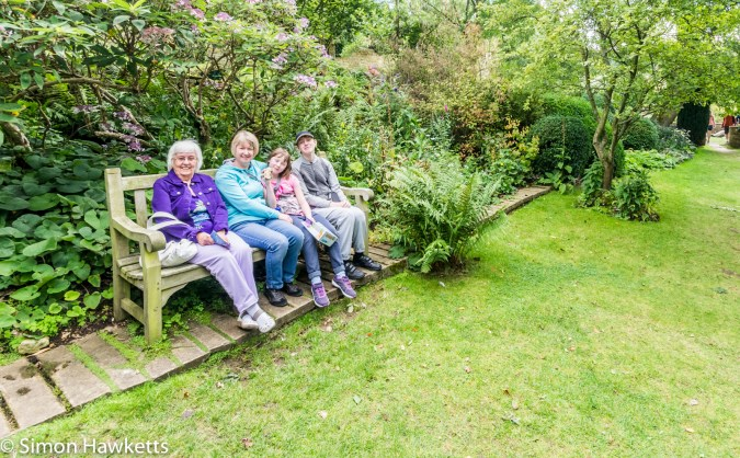 A family group portrait at Showshill Manor gardens