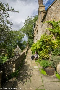 A pathway above the gardens at Snowshill Manor