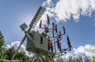 A windmill in the orchard at showshill manor