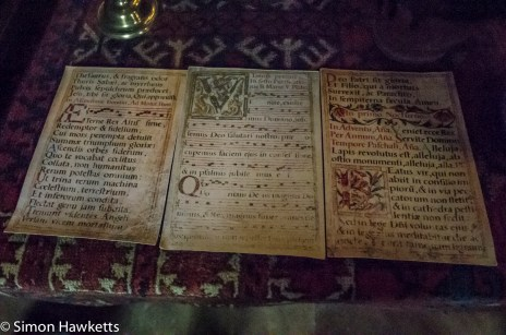 Documents on display at Snowshill Manor