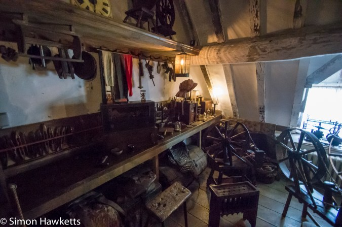 The attic rooms in Snowshill Manor