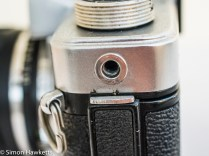 Kowa SE 35mm slr showing accessory mounting thread