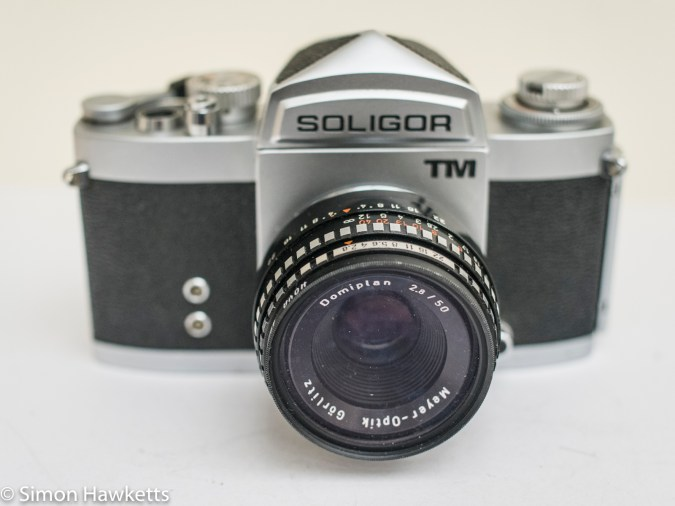 Soligor TM 35mm slr camera showing front view