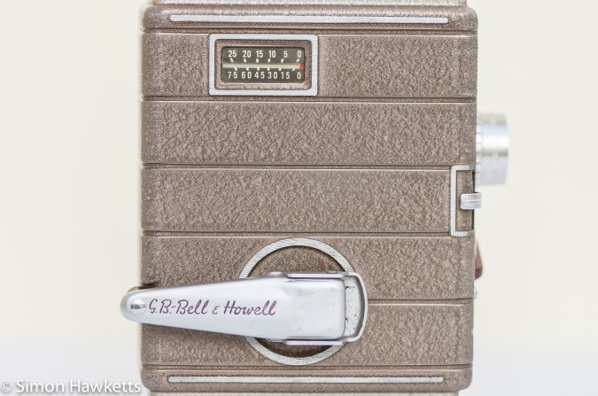Bell & Howell 624 8mm movie camera - Wind up handle