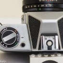 Chinon CX 35mm slr film type reminder, hot shoe & battery test button
