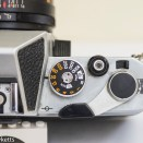 Chinon CX 35mm slr shutter speed, shutter release, film advance and multiple exposure switch