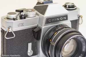 Chinon CX 35mm slr stop down metering button and self timer
