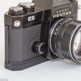 Pentax Spotmatic ES 35mm slr showing battery compartment