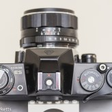 Pentax Spotmatic ES 35mm slr showing top view