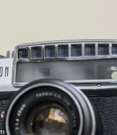 Odd looking Taron Eyemax 35mm rangefinder camera 1