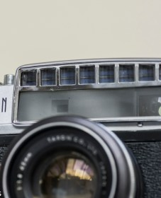 Odd looking Taron Eyemax 35mm rangefinder camera 2