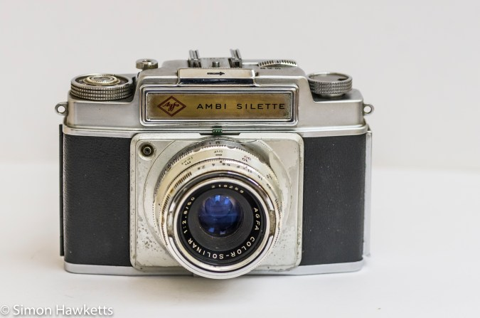Agfa Ambi Silette 35mm rangefinder camera - cover down