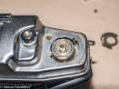 Agfa Ambi Silette 35mm rangefinder top cover removal - Screw and shaped washer removed