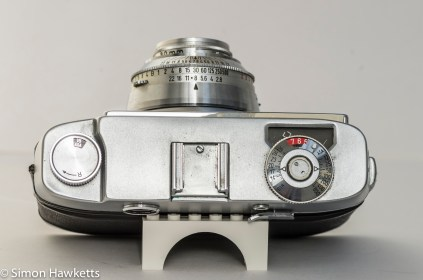 Agfa Super Silette L 35mm rangefinder camera - top view