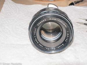Auto Takumar 55mm f/2.2 strip down - completed lens