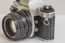 Pentax Super Program 35mm slr - sync socket and lcd illumination