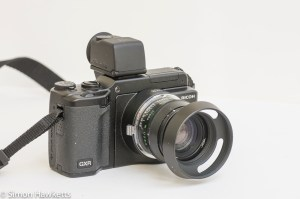 Ricoh GXR viewfinder vf-2 - viewfinder fitted to GXR with Leica mount and Jupiter 8 lens front view