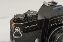 Spotmatic SPII showing some wear to the corners.