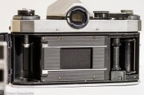 Praktica Super TL 35mm slr showing the Film Chamber