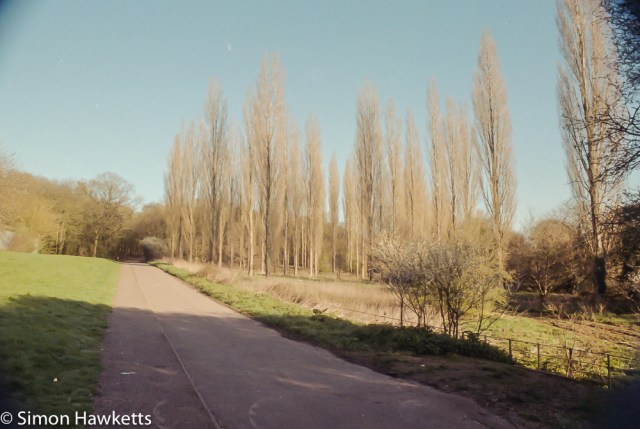 Pentax Z-20 sample pictures - cycle path by ridlings sports ground