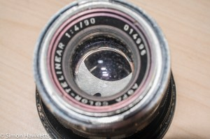A Picture of the Agfa Color-Telinear 90mm lens