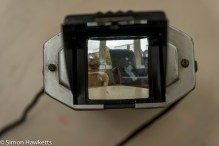 Kodak Brownie Reflex camera - looking through the viewfinder