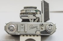 Kodak Retina IIa 35mm rangefinder camera top view showing the controls
