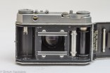 Kodak Retina IIa 35mm rangefinder camera rear view with the back cover open showing the film transport