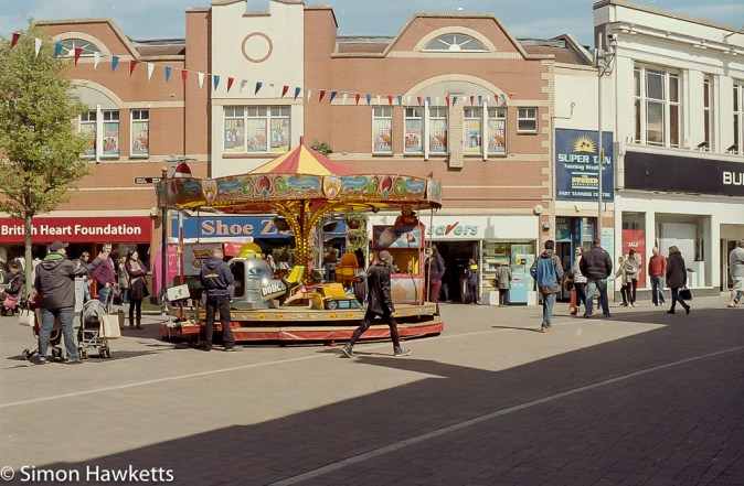 Minolta X-700 sample pictures - A merry go round in Loughborough town