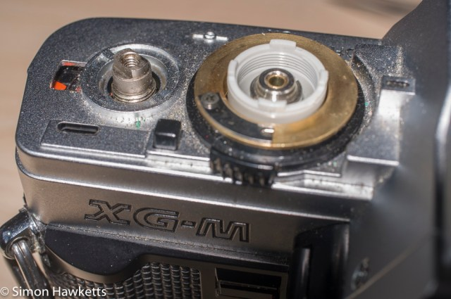 Minolta XG-M repair - advance removed