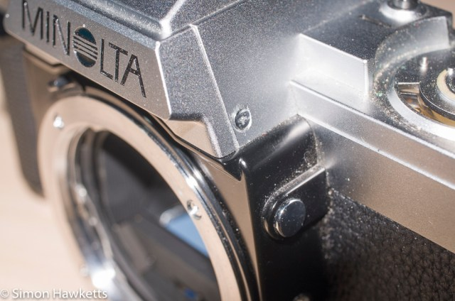 Minolta XG-M repair - remove these screws by the lens mount